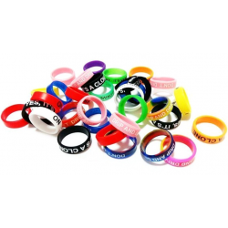 VAPE BAND MIXE COLORS 22MM x10