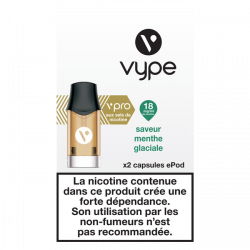 2 Capsules VPRO Epod Menthe Glaciale 1,9ml