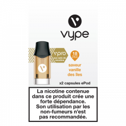 5x2 Capsules VPRO Epod Vanille des Îles 1,9ml