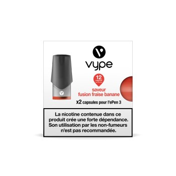 Pods Vype Epen 3 Fusion Fraise Banane 2mL x1