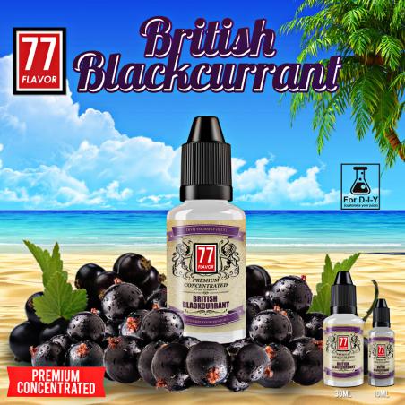 Concentré British Blackcurrant 10mL [Premium 77 Flavor]